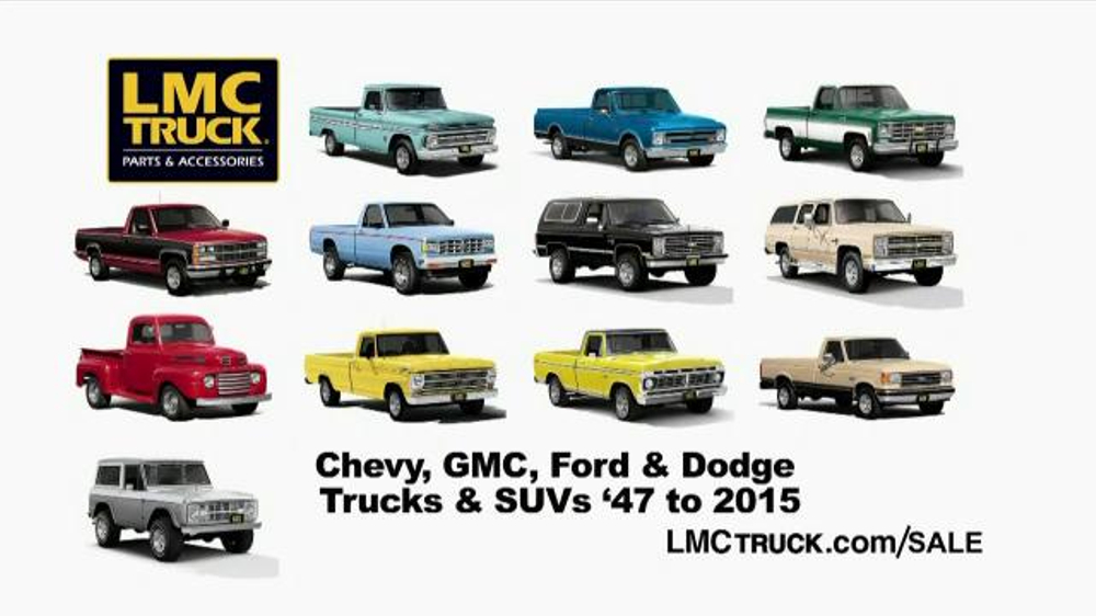 Parts Accessories For Chevrolet Trucks Suvs Lmc Truck >> Lmc Truck Sale Tv Commercial Best Deals Of The Year Video
