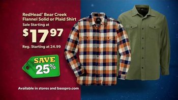 Bass Pro Shops Countdown To Christmas Sale TV Spot, 'Flannel Shirts' - Thumbnail 3