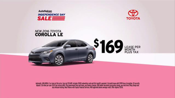 AutoNation Independence Day Sale TV Spot, '2016 Toyota Corolla' - 1421 commercial airings
