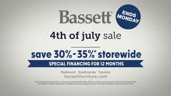 Bassett 4th of July Sale TV Spot, 'Design Studio: Furniture' - Thumbnail 7