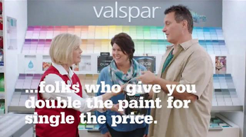 ACE Hardware Valspar Buy One, Get One Free Sale TV Spot, 'Double the Paint'
