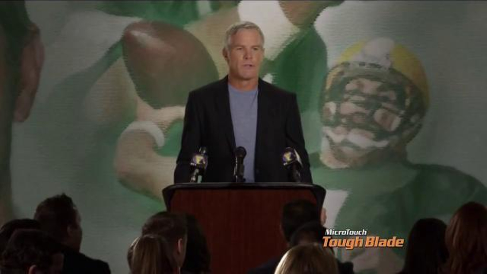 MicroTouch Tough Blade TV Commercial, 'Press Conference' Featuring Brett Favre