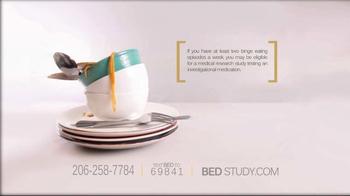 B.E.D. Study TV Spot, 'Binge Eating Episodes' - Thumbnail 3