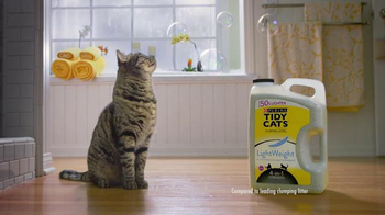 Purina Tidy Cats LightWeight 4-in-1 TV Spot, 'Bubbles' - Thumbnail 2