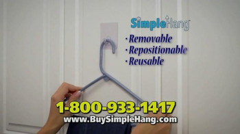 Simple Hang Hooks TV Spot, 'Hang Anything' - Thumbnail 3