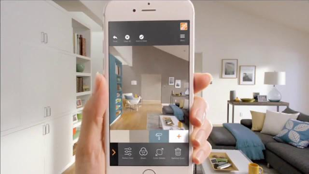 The Home Depot Project Color App Tv Commercial A Virtual Test