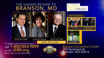 John Hagee Ministries TV Spot, 'Gospel Rally: Branson Convention Center' - Thumbnail 5
