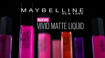 Maybelline New York Vivid Matte Liquid TV Spot, 'Matte vivido' [Spanish] - Thumbnail 3