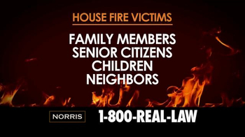 Norris Injury Lawyers TV Spot, 'House Fire Victims' - Thumbnail 2