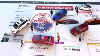 Toyota Presidents' Day Event TV Spot, 'Bonus Cash' [T2] - Thumbnail 1