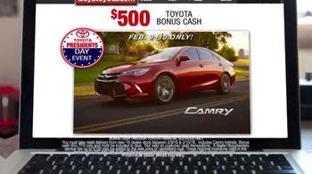 Toyota Presidents' Day Event TV Spot, 'Bonus Cash' [T2] - Thumbnail 2