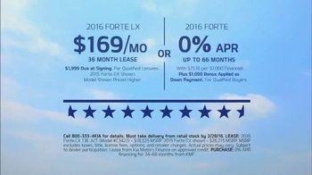 Kia Presidents' Day Sales Event TV Spot, 'Statement Car: 2016 Forte LX' - Thumbnail 4