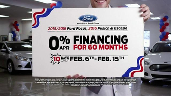 Ford Presidents' Day Event TV Spot, 'Focus, Fusion and Escape' - Thumbnail 6