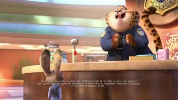 Subway TV Spot, 'Disney's Zootopia Comes to Subway' - Thumbnail 7