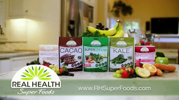 Real Health Superfoods Kale TV Spot, 'Meatloaf, Soups and Pizza' - Thumbnail 3