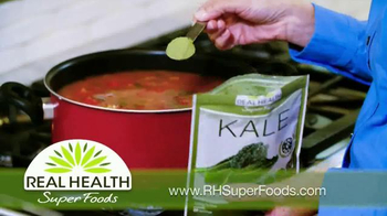 Real Health Superfoods Kale TV Spot, 'Meatloaf, Soups and Pizza' - Thumbnail 4