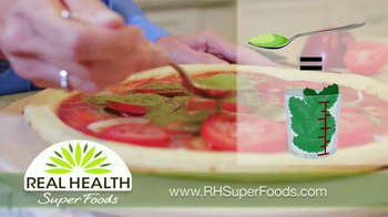 Real Health Superfoods Kale TV Spot, 'Meatloaf, Soups and Pizza' - Thumbnail 7