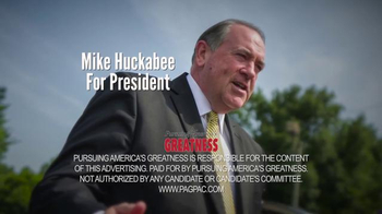 Pursuing America's Greatness TV Spot, 'Serious' Featuring Mike Huckabee - Thumbnail 9