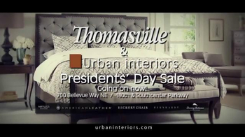 Urban Interiors & Thomasville Presidents' Day Sale TV Spot, 'Furniture' - Thumbnail 8