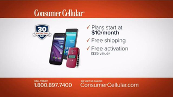 Consumer Cellular TV Spot, 'Bet: Cross Country: Plans $10+ a Month' - Thumbnail 9