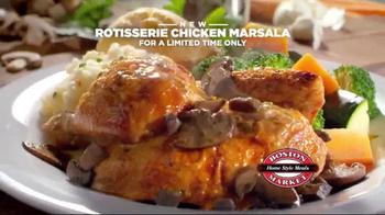 Boston Market Rotisserie Chicken Marsala TV Spot, 'All Natural and Savory'