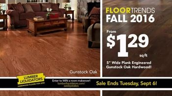Lumber Liquidators Fall Flooring Kick-Off Sale TV Spot, 'Fall Floor Trends'