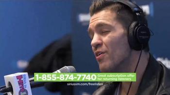 SiriusXM Satellite Radio Free Listening Event TV Spot, 'Two Weeks'