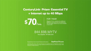 CenturyLink Prism Essential TV Package TV Spot, 'Big Green Couch' - Thumbnail 8