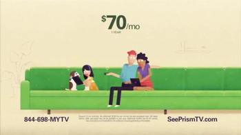 CenturyLink Prism Essential TV Package TV Spot, 'Big Green Couch' - Thumbnail 2