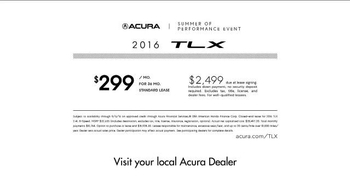 Acura Summer of Performance Event TV Spot, 'Weekends: TLX' - Thumbnail 9