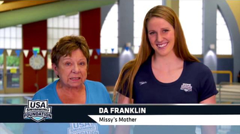 USA Swimming Foundation TV Spot, 'Swim Lessons' Featuring Missy Franklin - 1397 commercial airings
