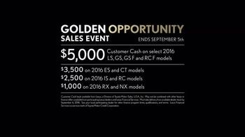 Lexus Golden Opportunity Sales Event TV Spot, 'Hands: Customer Cash' - Thumbnail 7