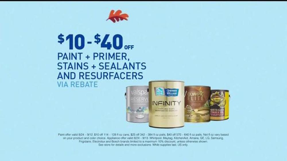 Lowe S Labor Day Deals Tv Commercial Paint Appliances Video