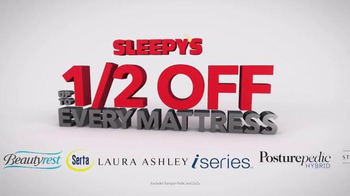 Sleepy's Labor Day Sale TV Spot, 'Up to Half Off'