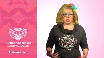 Ford Warriors in Pink TV Spot, 'Hoodie' Featuring Kirsten Vangsness - 1 commercial airings