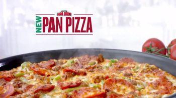 Papa John's Pan Pizza TV Spot, 'Thick, Cheesy, Golden Brown'