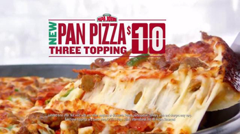 Papa John's Pan Pizza TV Spot, 'Thick, Cheesy, Golden Brown' - Thumbnail 5