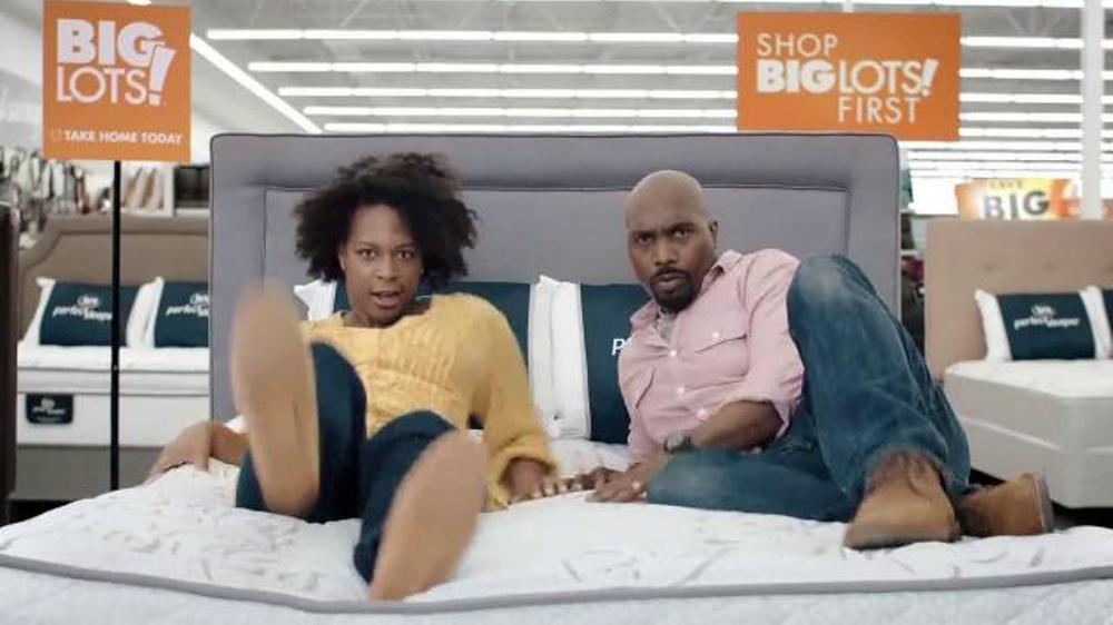 big lots columbus day deals tv commercial 39 find the right mattress 39. Black Bedroom Furniture Sets. Home Design Ideas