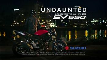 2017 Suzuki SV650 TV Spot, 'Undaunted' - Thumbnail 8