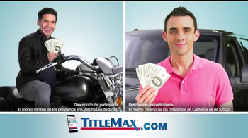 TitleMax TV Spot, 'Uno, dos y tres' [Spanish]