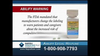 Napoli Shkolnik PLLC TV Spot, 'Abilify Legal Helpline'