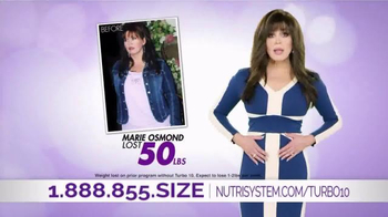 Nutrisystem Turbo10 TV Spot, 'Belly Bloat' Featuring Marie Osmond - Thumbnail 7