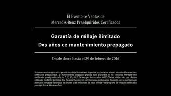 Mercedes-Benz Evento de Preadquiridos Certificados TV Spot, 'Sí' [Spanish] - Thumbnail 10