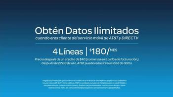 AT&T Unlimited Plan TV Spot, 'Datos ilimitados' [Spanish] - Thumbnail 8