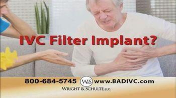 Wright & Schulte, LLC TV Spot, 'IVC Filter Implant'