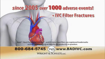 Wright & Schulte, LLC TV Spot, 'IVC Filter Implant' - Thumbnail 6