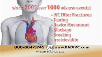 Wright & Schulte, LLC TV Spot, 'IVC Filter Implant' - Thumbnail 7