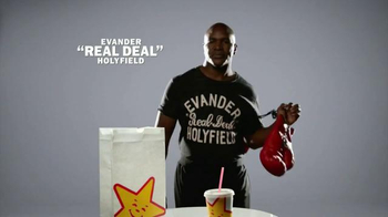 Carl's Jr. $4 Real Deal TV Spot, 'The Heavyweight' Feat. Evander Holyfield - Thumbnail 1