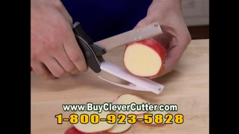 Clever Cutter TV Spot, 'Knife & Cutting Board in One'