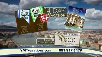 YMT Vacations River Cruise TV Spot, 'France, Germany or Austria' - Thumbnail 8